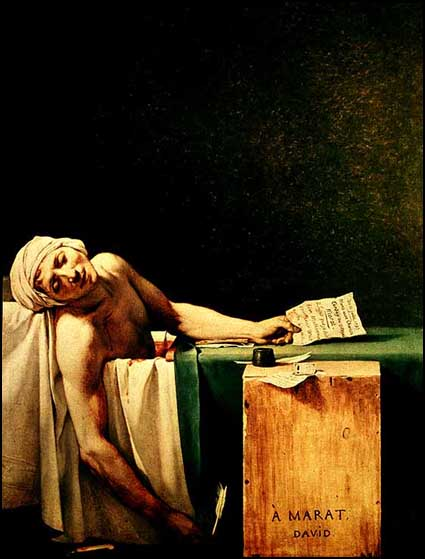 jacques-louis david's 'death of marat'