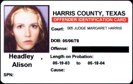 harris county, texas offender identification card